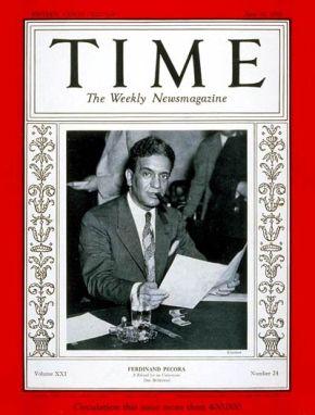 Ferdinand Pecora en Time 1933