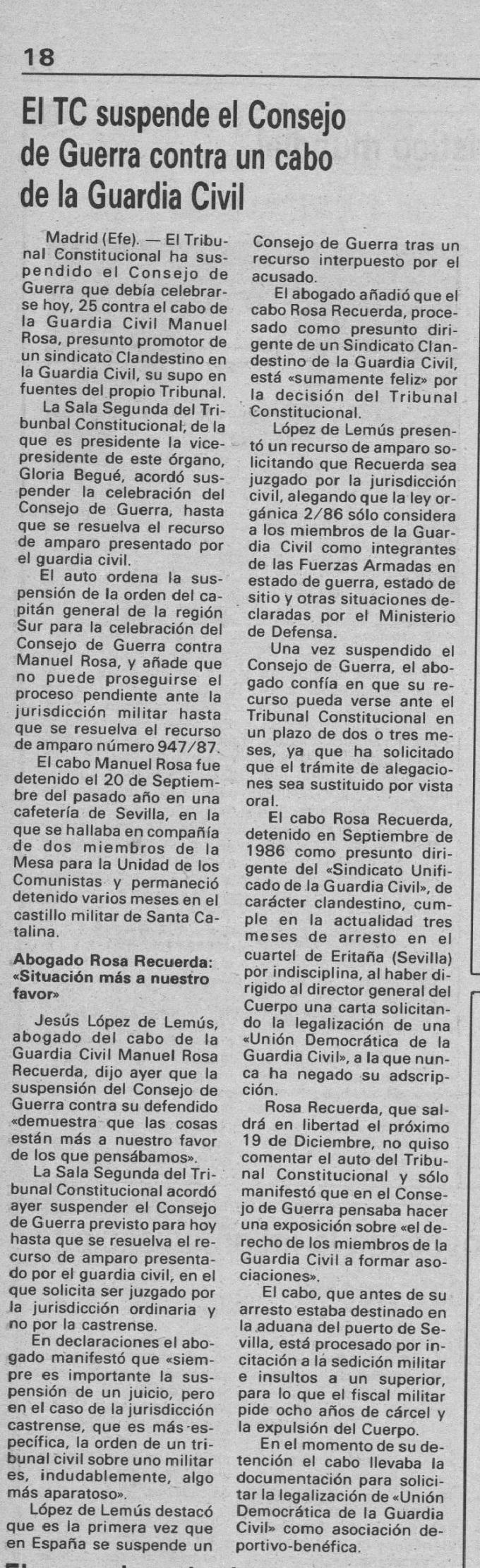 Diario de Burgos de avisos y noticias 1987 noviembre 25