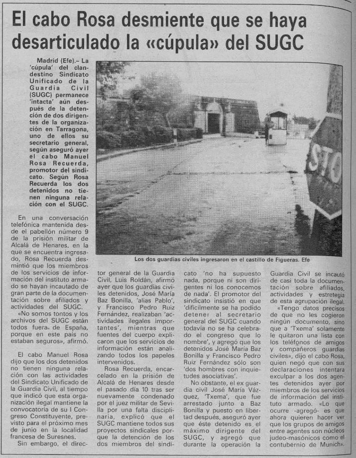 Manuel Rosa Recuerda Diario de Burgos de avisos y noticias 24 mayo 1990